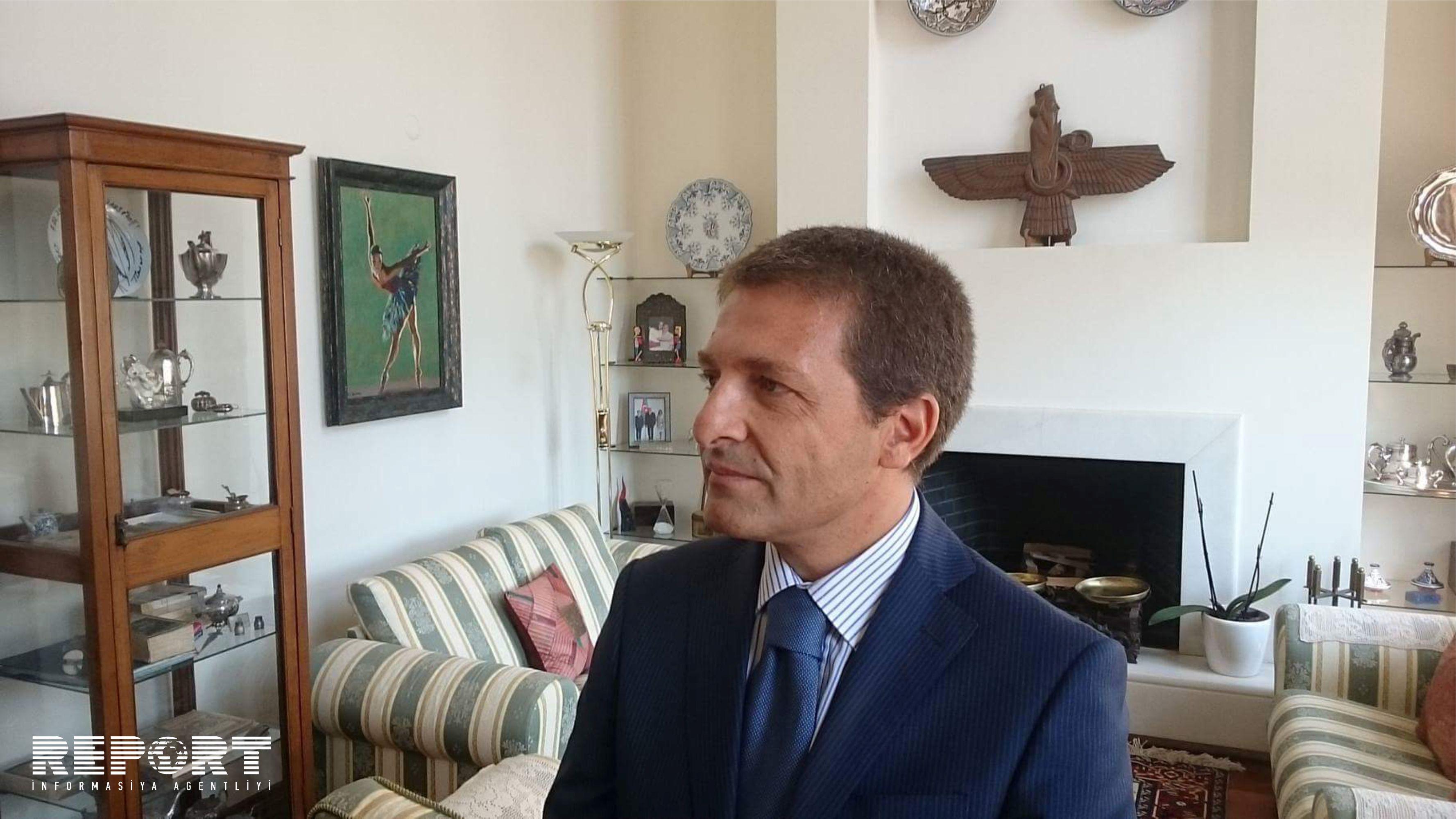 Səfir: TAP-ın tikintisi üzrə İtaliyada böyük miqyaslı işlərin startını gözləyirik