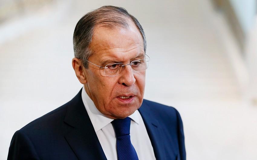 Lavrov: Əfqanıstanda fəaliyyət göstərən terrorçulara hərbi təminatın qarşısı alınmalıdır