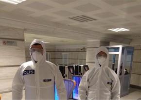 Metronun daha bir stansiyasında koronavirus xəstəsi saxlanılıb
