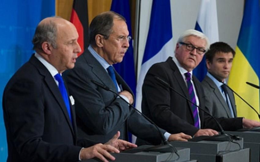 Встреча глав МИД нормандской четверки запланирована на 13 февраля в Мюнхене