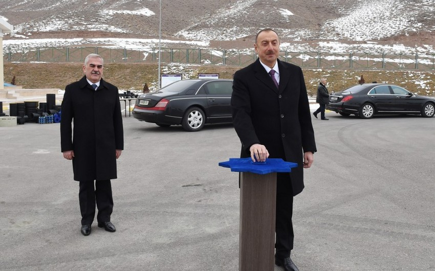President Ilham Aliyev inaugurates drinking water supply and sewage systems in Julfa and surrounding villages