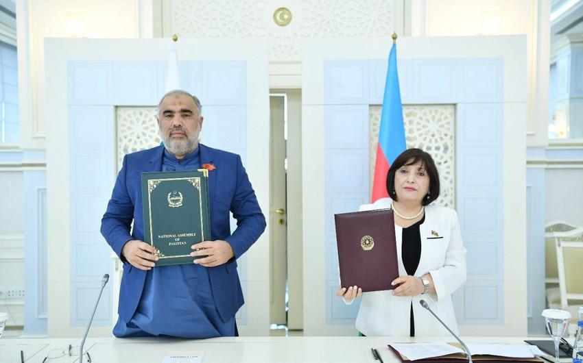 Azərbaycan və Pakistan parlamentləri arasında Anlaşma Memorandumu imzalanıb