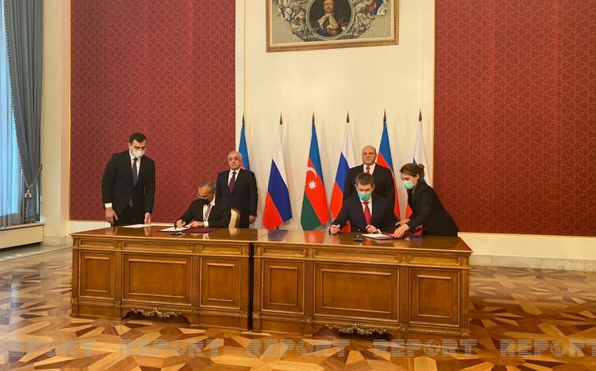 Azərbaycan ilə Rusiya arasında bir sıra sənədlər imzalandı