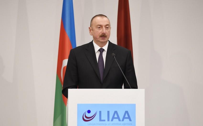 Prezident İlham Əliyev: Son iyirmi il ərzində Azərbaycana 200 milyard dollardan çox investisiya qoyulub