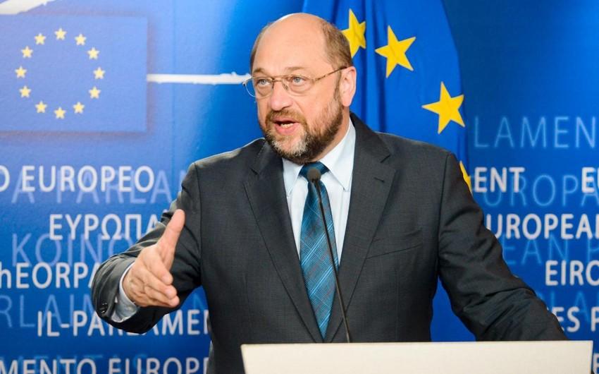 Martin Şults Avropa Parlamentinin sədri vəzifəsindən ayrılacağını bəyan edib