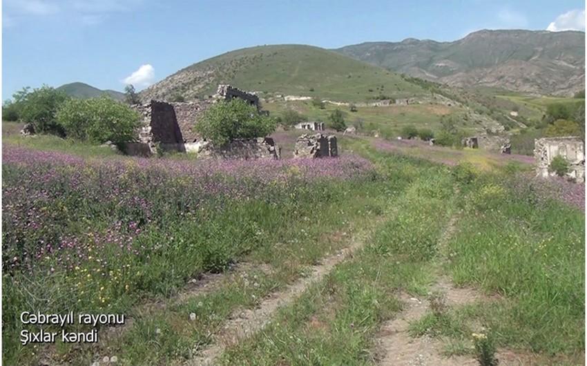 Видеокадры из села Шихлар Джебраильского района