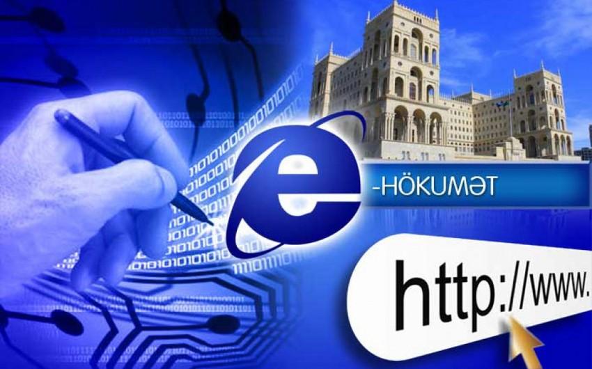 """""""Elektron hökumət"""" portalına müraciət edənlərin sayı artıb"""