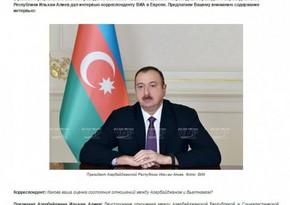 İlham Əliyev: Azərbaycan və Vyetnam dinamik və davamlı inkişaf yolunda olan ölkələrdir