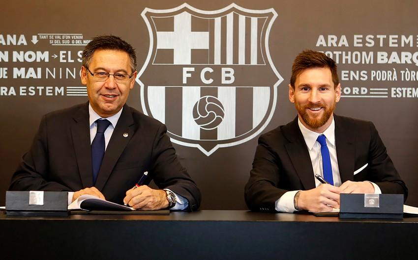 Barselonadan Messiyə yeni müqavilə