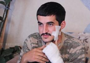 Ağdaş müharibədə bir neçə dəfə yaralanmış qazisini qəhrəman kimi qarşıladı
