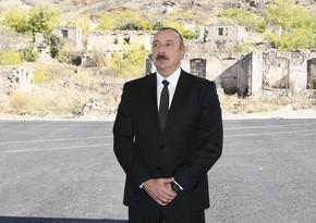 Azərbaycan lideri: Xalqımızın indiki və gələcək nəsilləri şəhidlərimizlə həmişə fəxr edəcək