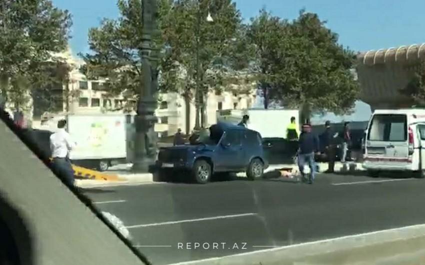 Bakıda yol qəzası olub, sürücü ölüb