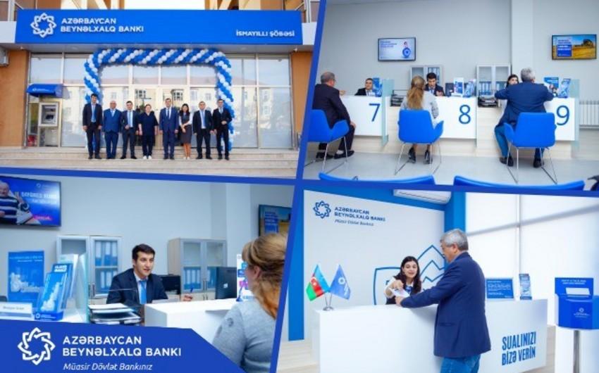 """Azərbaycan Beynəlxalq Bankının """"İsmayıllı"""" şöbəsinin yeni ofisi istifadəyə verilib"""