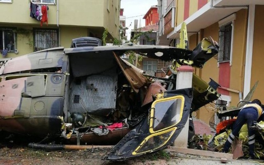 Türkiyədə hərbi helikopter qəzaya uğrayıb, 4 hərbçi ölüb, biri yaralanıb - FOTO - VİDEO - YENİLƏNİB