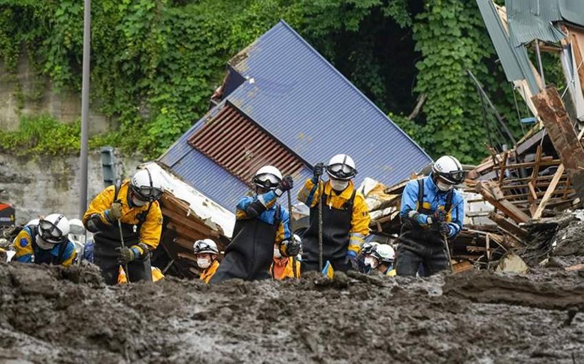Yaponiyada torpaq sürüşməsi nəticəsində ölənlərin sayı 13-ə yüksəldi