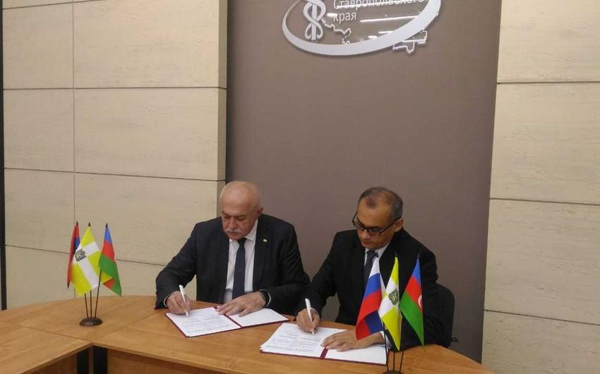 Stavropolun Ticarət və Sənaye Palatası ilə ASK  arasında əməkdaşlıq müqaviləsi imzalanıb