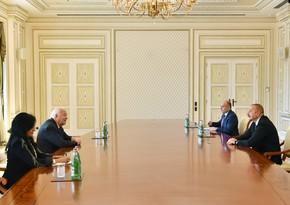 Azərbaycan Prezidenti BMT-nin ali nümayəndəsini qəbul edib