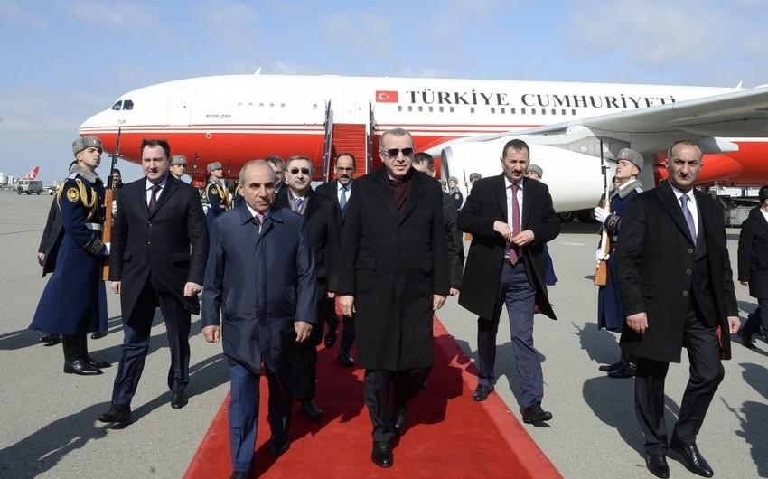 Erdoğan embarks on visit to Azerbaijan