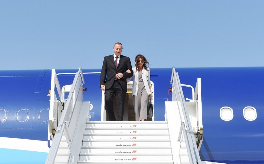 President Ilham Aliyev arrives in the United States for visit
