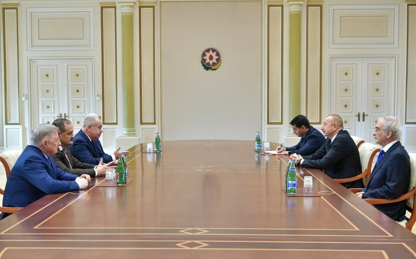 Президент Ильхам Алиев принял заместителя председателя Совета Федерации России