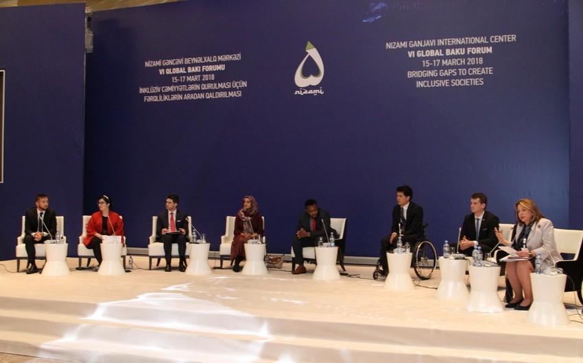 VI Qlobal Bakı Forumu çərçivəsində gənclərin panel müzakirəsi keçirilib