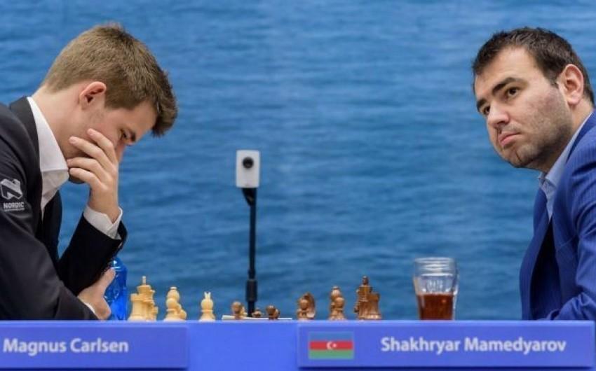 ShamkirChess 2019: Şəhriyar Məmmədyarov dünya çempionu ilə heç-heçə edib - YENİLƏNİB