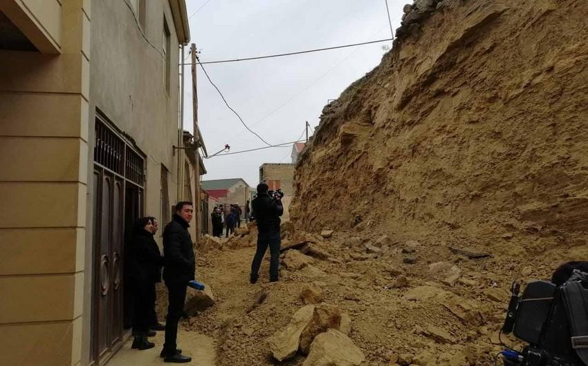 Nazirlik: Badamdardakı uçqun ərazisində yeni təhlükə yoxdur - FOTO - VİDEO
