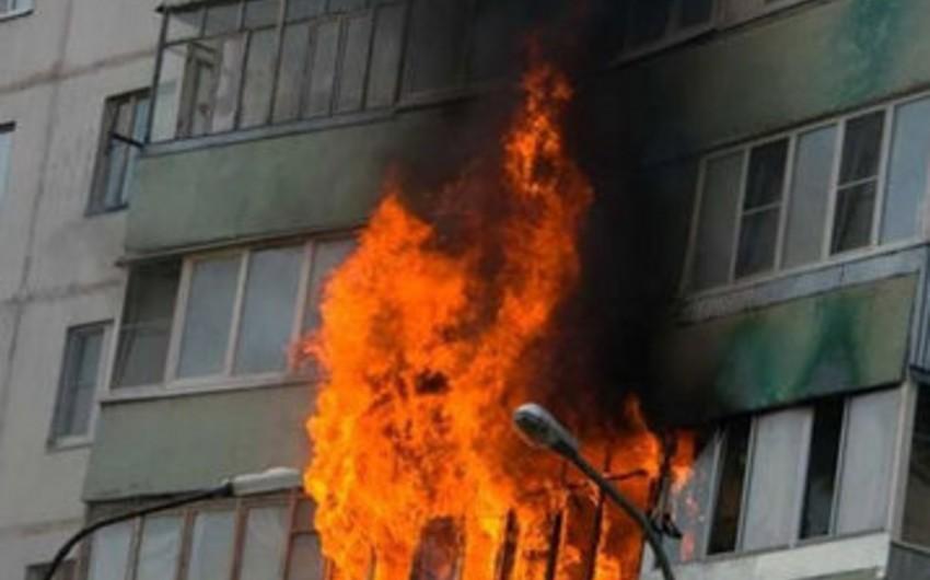 Xətai rayonunda yanğın olub, ev sahibinin yanmış meyiti aşkarlanıb