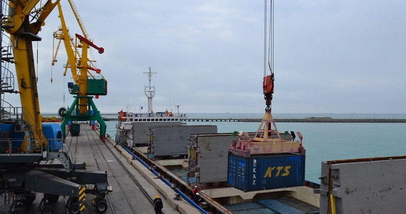 Aktau port increases transshipment of goods along Trans-Caspian International Transport Route