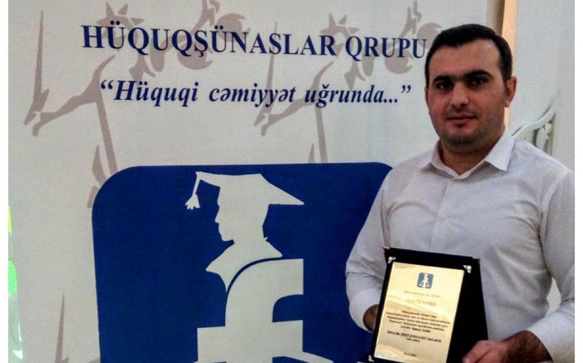 Reportun əməkdaşı Hüquqşünaslar Qrupu tərəfindən mükafatlandırılıb - FOTO