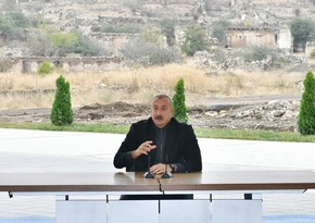 President: After Fuzuli came under our control, more opportunities opened up to move in Shusha direction