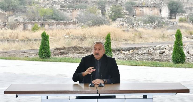 Президент: После того, как Физули перешел под наш контроль, открылось больше возможностей двигаться в направлении города Шуша