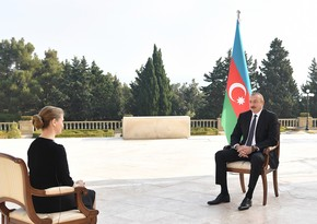 Ilham Aliyev gives interview to Russia's TASS news agency