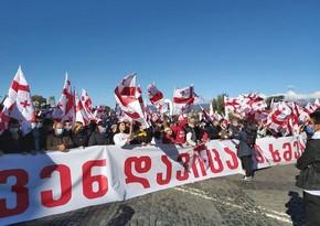 Gürcüstan müxalifəti təkrar seçkilər tələbi ilə Tbilisidə mitinq keçirir