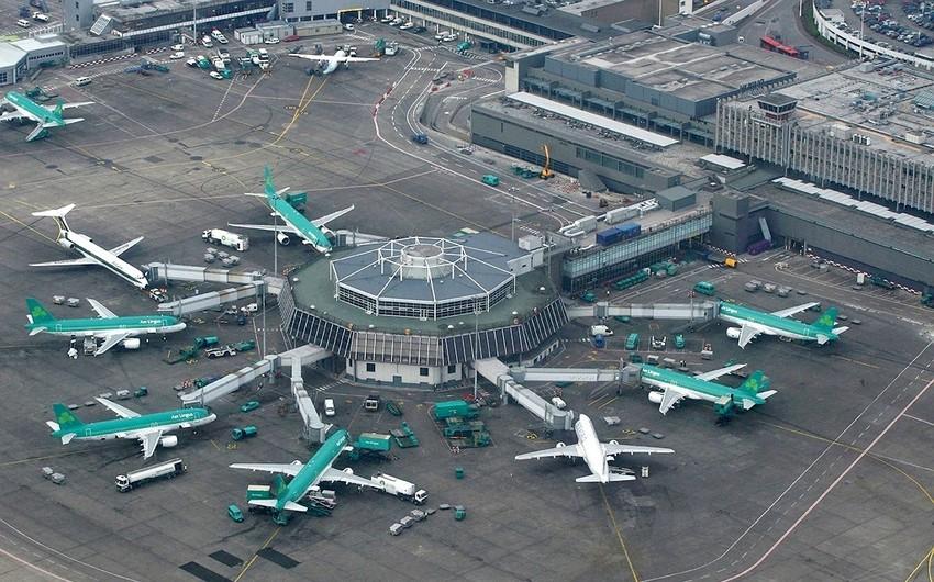 Dublin hava limanı fəaliyyətini müvəqqəti olaraq dayandırıb