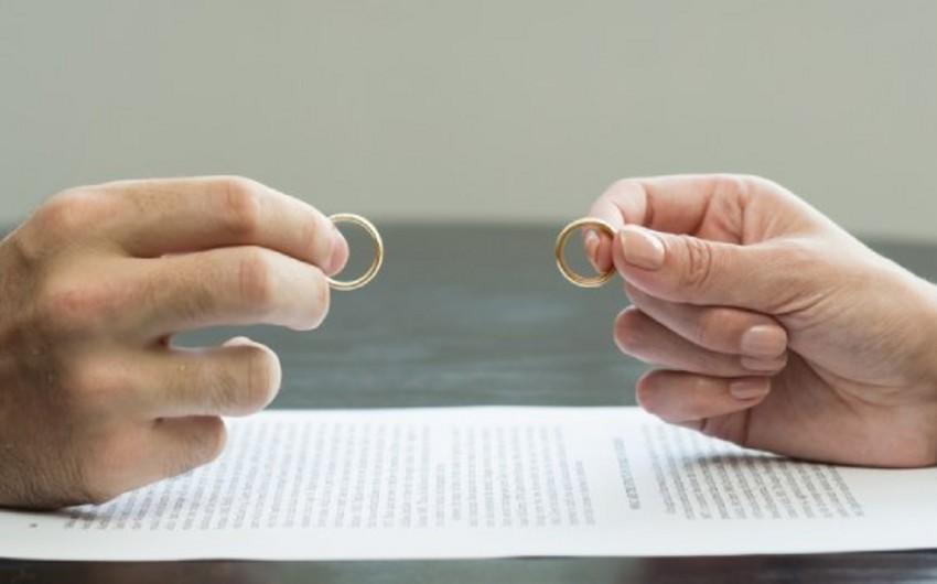 Azərbaycanda karantin dövründə 477 boşanma qeydə alınıb - RƏSMİ