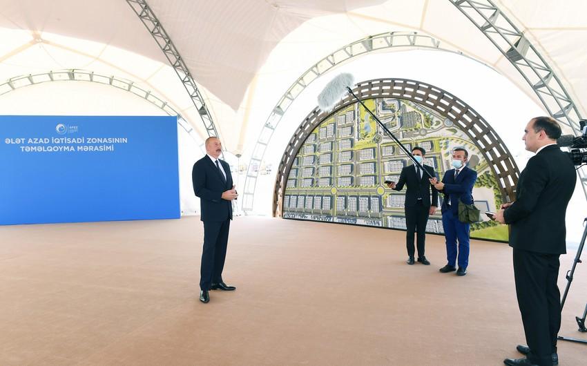 Ильхам Алиев: Алятская СЭЗ будет готова принять инвесторов в следующем году