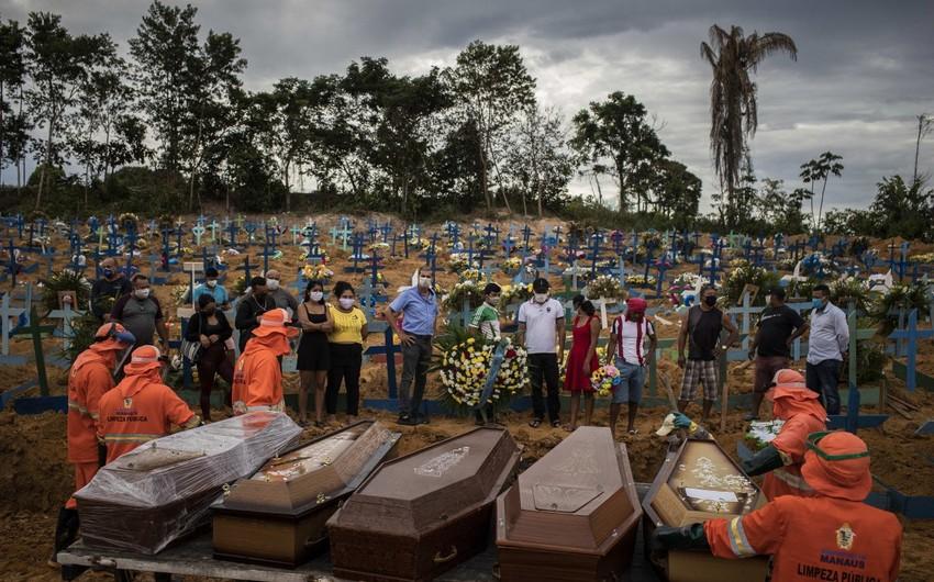Braziliyada koronavirusdan ölənlərin sayı 4,5 mini ötüb
