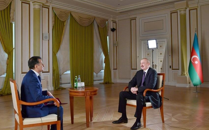 Prezident İlham Əliyev Real TV-yə müsahibə verib