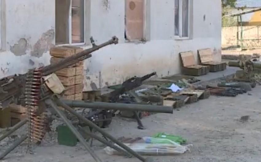 MN: Zəngilan istiqamətində düşməndən əldə edilən silah-sursatın görüntüsü