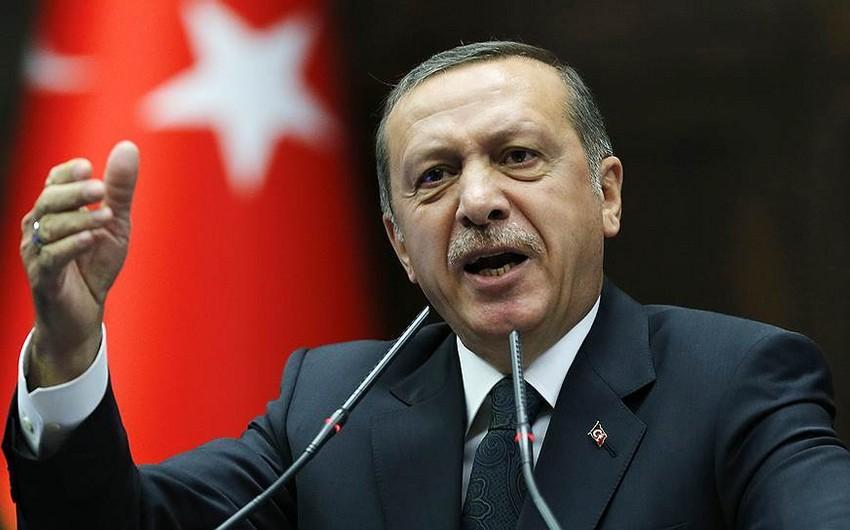 """Türkiyə Prezidenti: """"Sərhəd təhlükəsizliyimizi təmin edərək teror dəhlizini dağıtmışıq"""""""