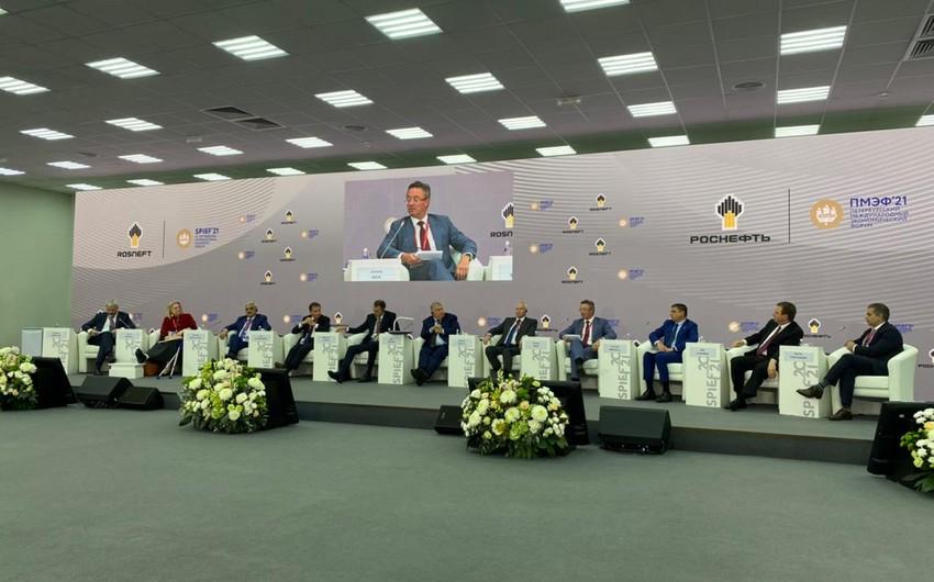 SOCAR prezidenti Sankt-Peterburq beynəlxalq iqtisadi forumunda çıxış edib