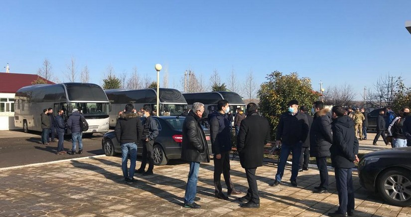 Xarici diplomatlar və hərbi attaşelər Füzulinin Merdinli kəndində olublar