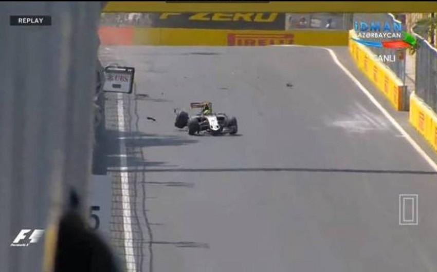 Bakıda keçirilən GP2 seriyasının yarışında qəza baş verib