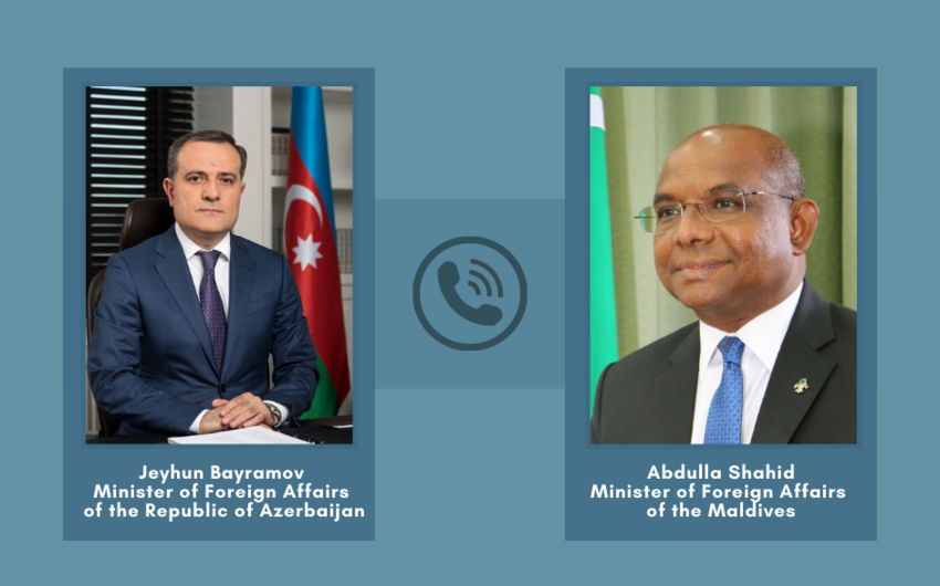 Azərbaycan və Maldiv XİN başçıları arasında telefon danışığı olub