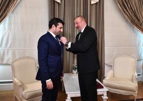 İlham Əliyev Selçuk Bayraktarı Qarabağ ordenilə təltif edib