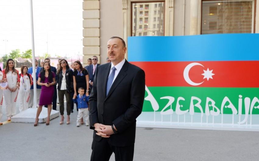 Prezident İlham Əliyev: Əminəm ki, dünya miqyasında ən gözəl Oyunları biz keçirəcəyik