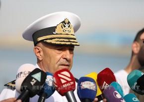 Commander of Azerbaijani Navy announces purpose of exercises