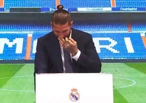 Ramos Real Madridlə vidalaşarkən ağladı