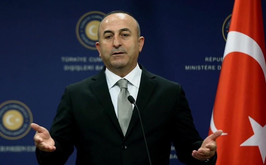 """Mövlud Çavuşoğlu: """"Dağlıq Qarabağ münaqişəsini kökündən həll etmək istəyirik"""